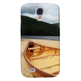 Canoa en la playa funda para galaxy s4