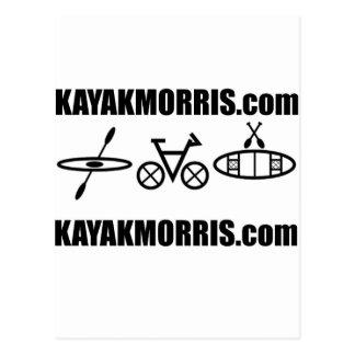 canoa Illinois de la bici de los morris del kajak Tarjeta Postal