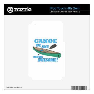 Canoa impresionante calcomanías para iPod touch 4G