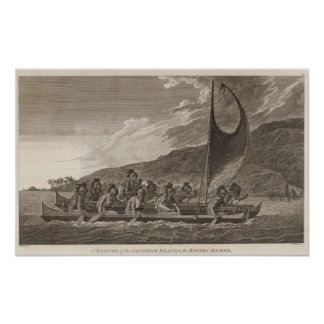 Canoa, islas de bocadillo póster