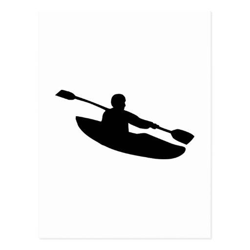 Canoa - kajak tarjeta postal