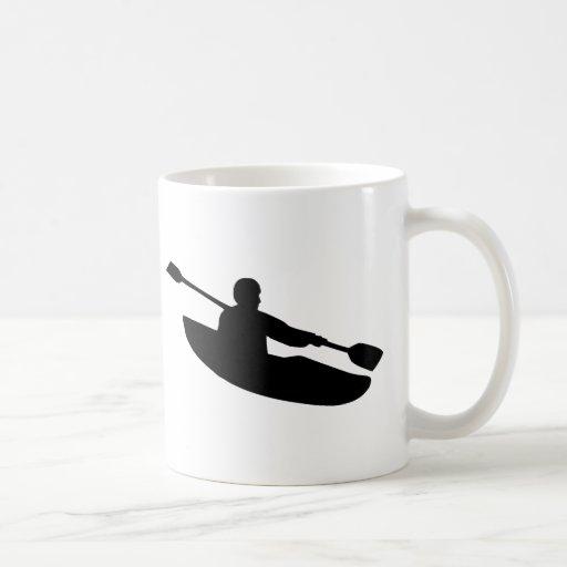 Canoa - kajak tazas de café