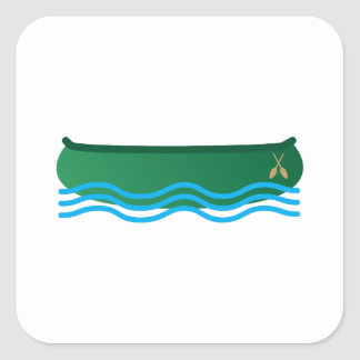 Canoa Pegatina Cuadrada