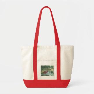 Canoa roja bolsa tela impulso