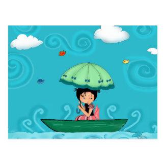canoa tarjetas postales