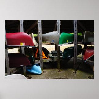 Canoas de reclinación póster