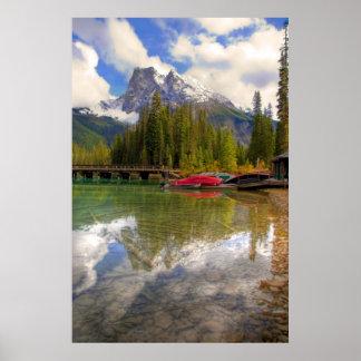 Canoas esmeralda del lago impresiones