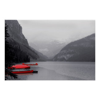 Canoas rojas poster