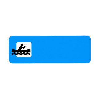 canoe-309430  canoe sign symbol icon boat water ac return address labels