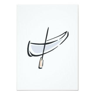 """Canoe 3 5"""" x 7"""" invitation card"""