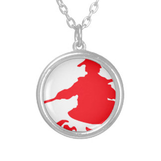 Canoe adventure silver plated necklace