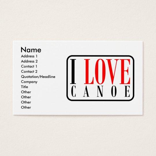 Canoe, Alabama City Design Business Card