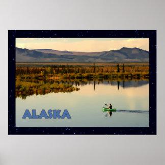 Canoe Alaska Poster