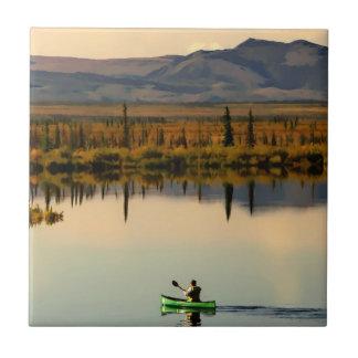 Canoe Alaska Ceramic Tile