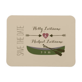 Canoe + Arrows With Heart Save The Date Magnet Rectangle Magnet