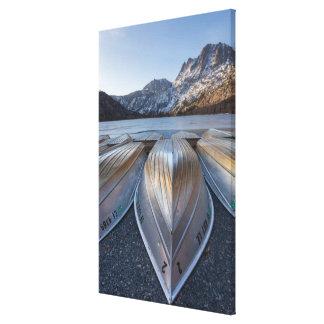 Canoe At The Lake Canvas Print