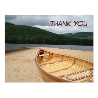 Canoe at Water's Edge Thank You Postcard