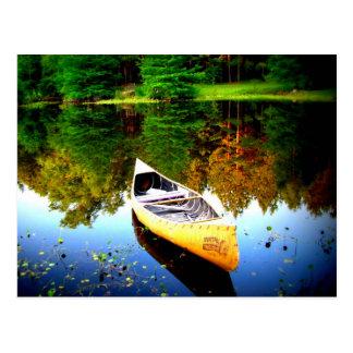 canoe beauty peace and joy postcard