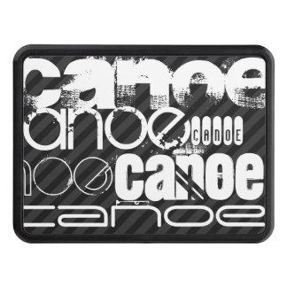 Canoe; Black & Dark Gray Stripes Tow Hitch Cover