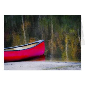 Canoe Blank Card