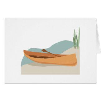 Canoe Boat Greeting Card
