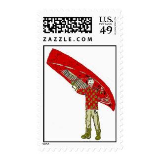 canoe boy stamp