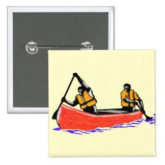 Canoe Pinback Button