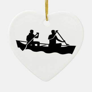 Canoe Ceramic Ornament
