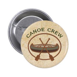 Canoe Crew Canoeing Pinback Button