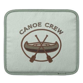 Canoe Crew Canoeing Water Sports Insignia iPad Sleeve