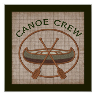 Canoe Crew Canoeing Water Sports Poster