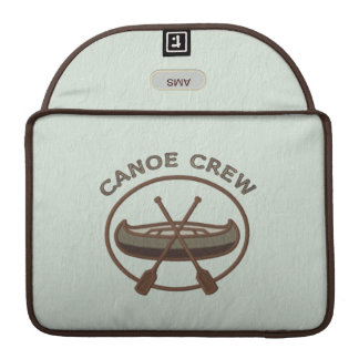 Canoe Crew Water Sports Insignia Custom Monogram MacBook Pro Sleeve