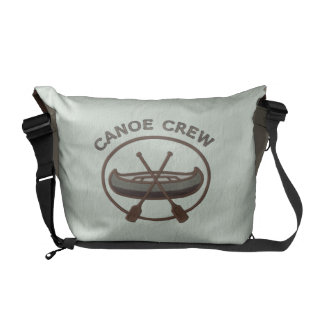 Canoe Crew Water Sports Insignia Green and Brown Courier Bag