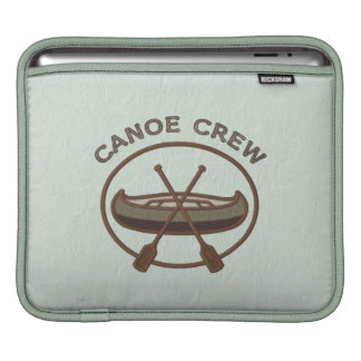 Canoe Crew Water Sports Insignia Personalized Name iPad Sleeves