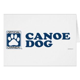 Canoe Dog Blue Card