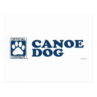 Canoe Dog Blue Postcard