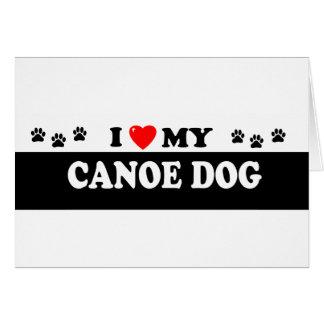 CANOE DOG CARD
