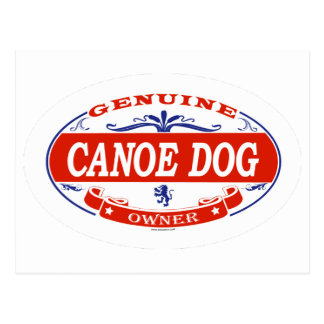 Canoe Dog  Postcard