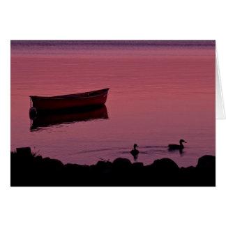 Canoe Evening Card