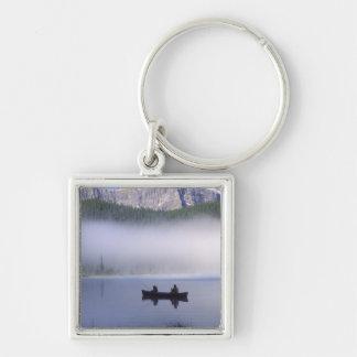 Canoe fishing Waterfowl Lake, Banff National Keychain