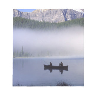 Canoe fishing Waterfowl Lake, Banff National Notepad