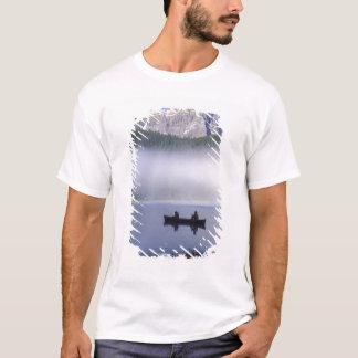 Canoe fishing Waterfowl Lake, Banff National T-Shirt