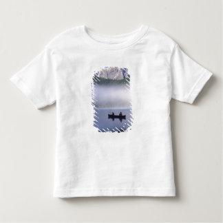 Canoe fishing Waterfowl Lake, Banff National Toddler T-shirt