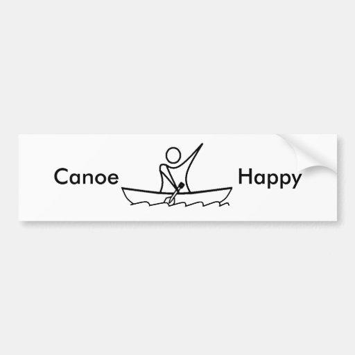 Canoe Happy 01, Bumper Sticker