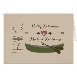 Canoe + Heart With Arrows Thank You Card