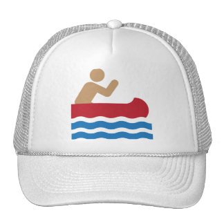 Canoe icon pictograph in color trucker hats