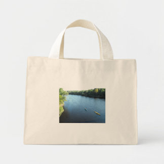 Canoe in blue water canvas bags