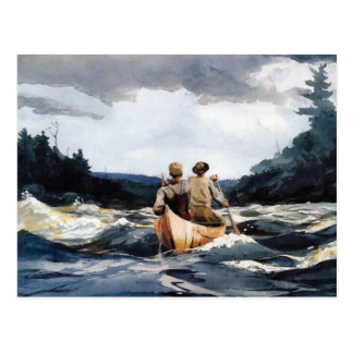 Canoe in Rapids by Winslow Homer Postcard