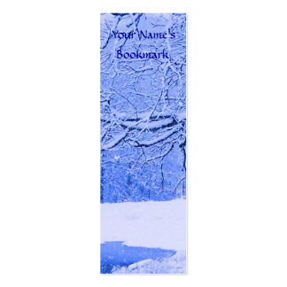 Canoe in Snow Double-Sided Mini Business Cards (Pack Of 20)