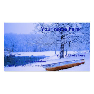 Canoe in Snow Double-Sided Standard Business Cards (Pack Of 100)